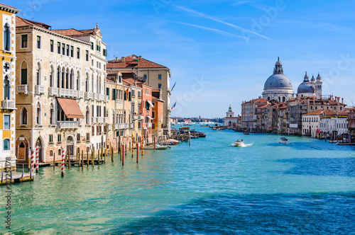 View of the Grand Canal in Venice, Italy - 187252178