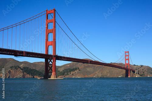 Foto Murales Golden Gate Bridge Bay Foreground