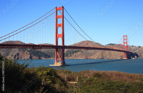 Golden Gate Bridge Brush View - 187259563