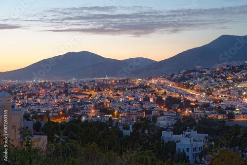 Night view to Bodrum, Turkey