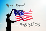 Martin Luther King Day background  - 187267101