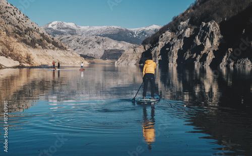 Foto op Canvas Bergen Paddle Surf Explorer