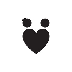 loving couple in the shape of a heart icon. Valentine's Day elements. Premium quality graphic design icon. Simple love icon for websites, web design, mobile app, info graphics