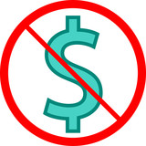 No Cash Dollar Icon