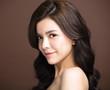 closeup asian young beauty face