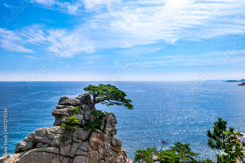 Fotobehang Tropical strand Hajodae landscape of Yangyang, South Korea