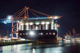 Containerschiffe, Beladung, Hamburger Hafen  - 187277578