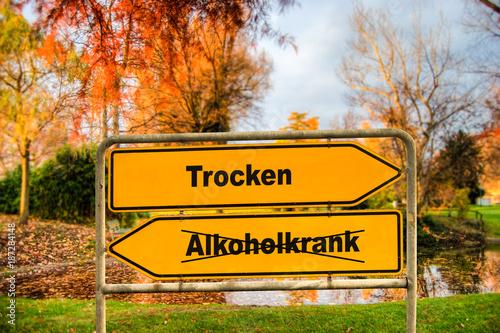 Schild 286 - Trocken