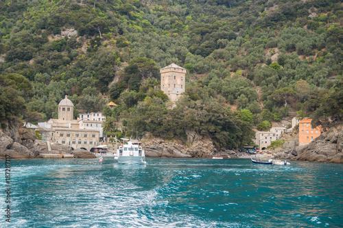 Foto op Plexiglas Liguria San Fruttuoso, Camogli, Parco terrestre e marino del Monte di Portofino, Genova, Liguria, Italia