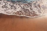 Tropical beach wave close