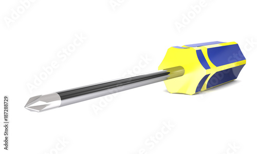 Modern locksmith screwdriver (3d illustration).