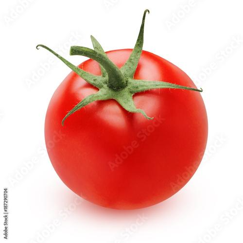 ripe tomato isolated on white background - 187290704