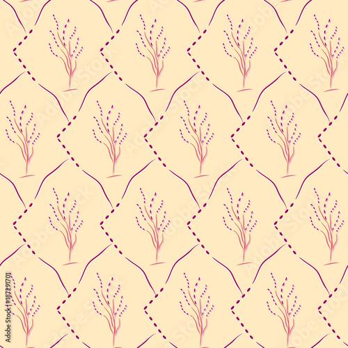 seamless cherry blossom pattern