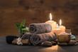 Leinwanddruck Bild - Beauty spa treatment with candles