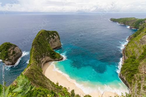 Fotobehang Bali Kelingking Beach auf der Nusa Penida vor Bali
