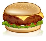 Cartoon Cheese Burge...