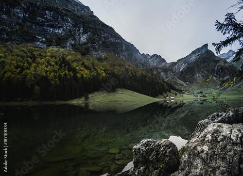 Foto op Canvas Bergen Seealpsee is a lake in Switzerland.