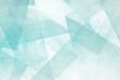 Leinwanddruck Bild - Mosaiksteine - türkis und weiß Abstrakter Hintergrund Design