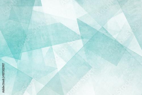 Leinwandbild Motiv Mosaiksteine - türkis und weiß Abstrakter Hintergrund Design
