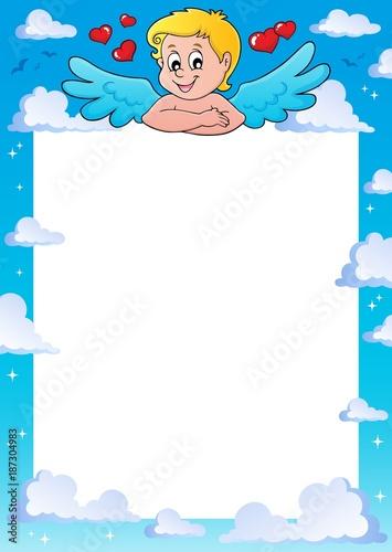 Deurstickers Voor kinderen Cupid thematics frame 1