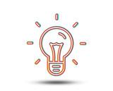 Idea line icon. Light bulb sign. Copywriting symbol. Colourful graphic design. Vector - 187308797