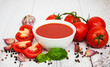 Bowl with tomato sauce - 187311723
