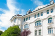 Leinwanddruck Bild - Stuckfassade eines Hauses in München - Altbau