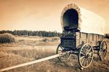 Vintage american western wagon, sepia vintage process, West American cowboy times concept - 187319766