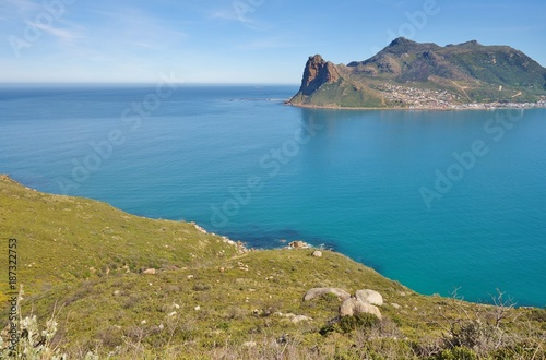 In de dag Blauwe jeans View of Hout Bay from Chapmans Peak Drive near the Cape of Good Hope, South Africa
