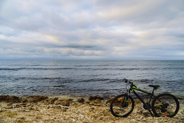Mountain biking on the beach