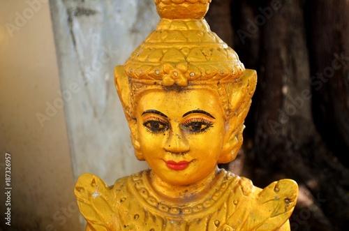 Poster Boeddha Buddha statue in Cambodia.