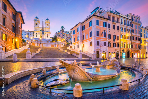 Foto op Plexiglas Rome Spanish Steps in the morning, Rome