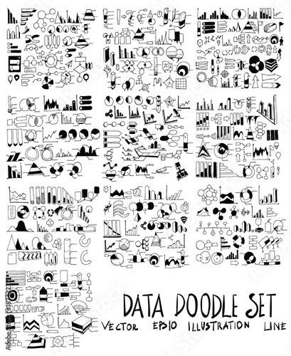 Set of Info illustration Hand drawn doodle Sketch line vector scribble eps10 © veekicl