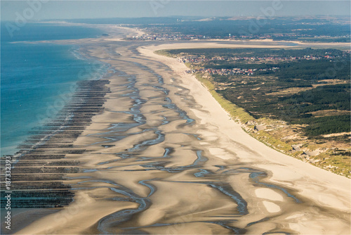Fotobehang Nice Vue aérienne de la Baie de Somme en France