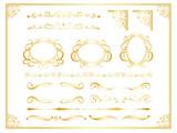 金のアンティーク飾り罫セット - 187337908