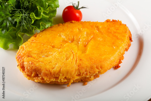Foto op Plexiglas Kiev Baked chicken breast