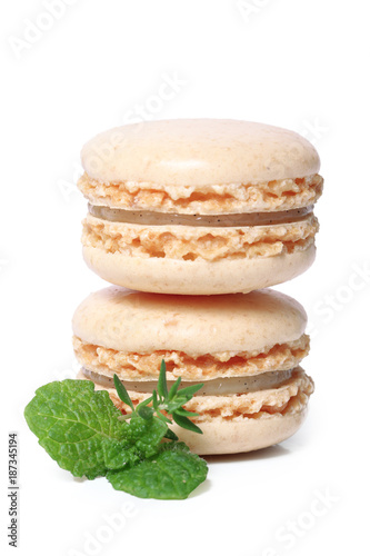 Foto op Plexiglas Macarons macaron à la vanille