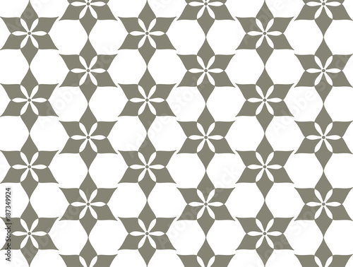 Decorative geometric flower grille. Seamless pattern with stylized ornament in oriental style.