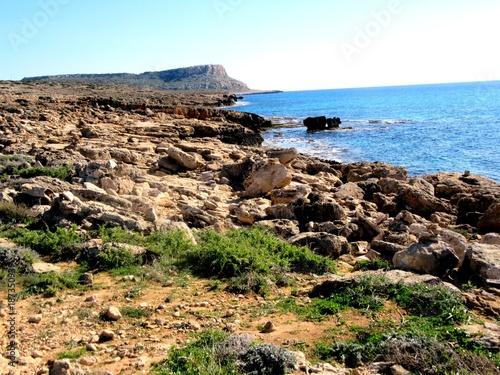 Aluminium Cyprus Küste von Agia Napa auf Zypern