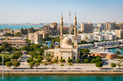 Cityscape of Suez, Egypt