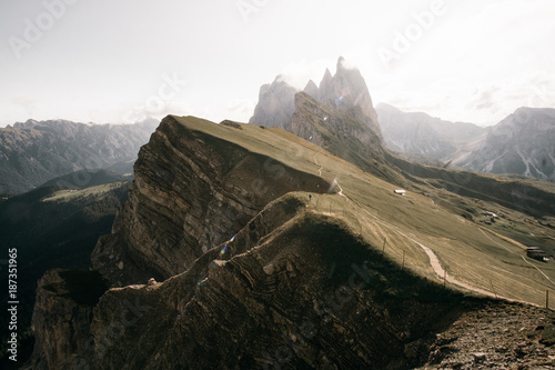 Foto op Canvas Wit Seceda in the heart of the impressive Dolomites
