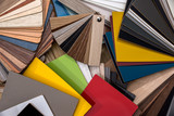 Catalog of samples of wood chips in color. - 187367320