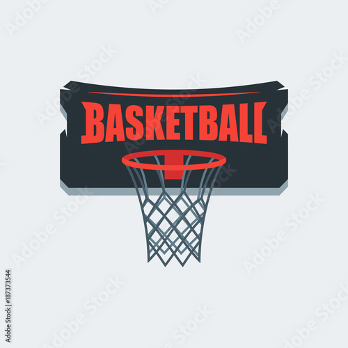 Obraz na płótnie Basketball Player Logo Template. Creative Sport Game Vector Illustration