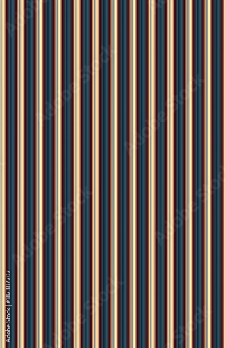 Fototapeta Vertical pattern of carnival colored metallic and fabric shapes and textures