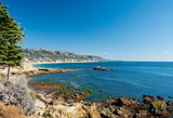 View of the coastline at Laguna Beach in California - 187389754
