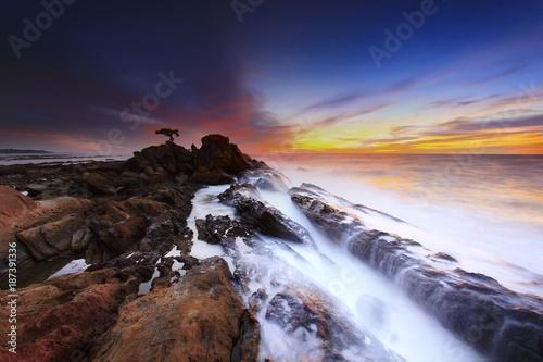 Foto Murales landscape, sea