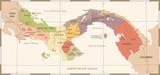 Panama Map - Vintage...