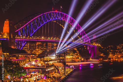Plakat Sydney Harbour Bridge Vivid