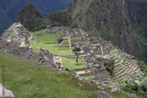 Fotobehang Pistache machu picchu inca city