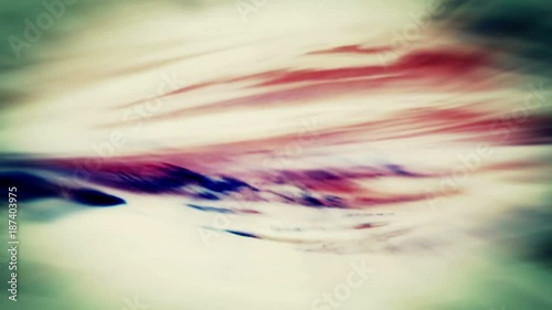 Sticker Video Background 2285: Abstract fluid forms pulse, ripple and flow (Loop).